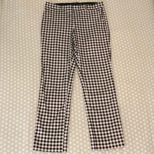 Banana Republic black and white gingham pants